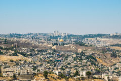 Panorama van Jeruzalem, Israël Stock Afbeelding