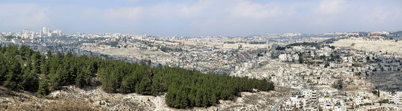 Panorama van Jeruzalem, Israël Royalty-vrije Stock Foto's