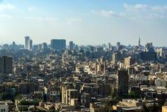 Panorama van Kaïro Afrika stock afbeeldingen