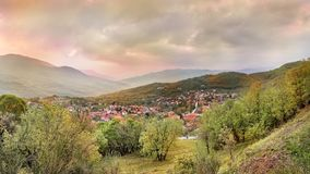 Panorama van Kalambaka, Trikala, Griekenland Stock Foto