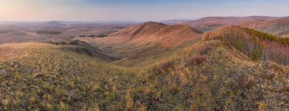Panorama van kale rand Royalty-vrije Stock Foto's