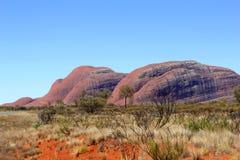 Panorama van Kata Tjuta, Olgas, Australië Stock Afbeelding