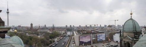 Panorama van Kathedraal van Berlijn, Duitsland royalty-vrije stock fotografie