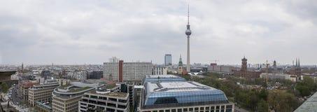 Panorama van Kathedraal van Berlijn, Duitsland royalty-vrije stock afbeelding