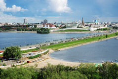 Panorama van Kazan het Kremlin Royalty-vrije Stock Afbeelding