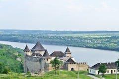 Panorama van Khotyn-Vesting royalty-vrije stock afbeelding