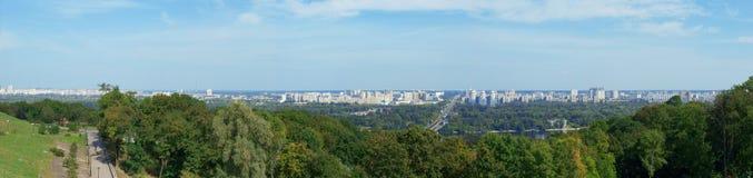 Panorama van Kiev Stock Afbeelding