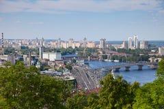 Panorama van Kiev, de Oekraïne. Royalty-vrije Stock Afbeeldingen
