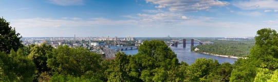 Panorama van Kiev, de Oekraïne. Royalty-vrije Stock Fotografie
