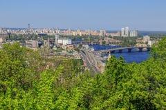 Panorama van Kiev, de Oekraïne. stock afbeelding