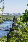 Panorama van Kiev, de Oekraïne. royalty-vrije stock foto's