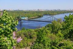 Panorama van Kiev, de Oekraïne. stock fotografie