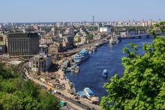 Panorama van Kiev, de Oekraïne. royalty-vrije stock afbeelding