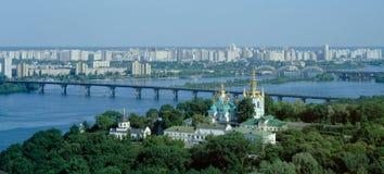 Panorama van Kiev-Pechersk Lavra Stock Afbeeldingen