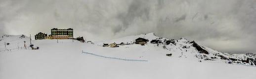 Panorama van Kleine Scheidegg De Alpen van Zwitserland Stock Afbeelding