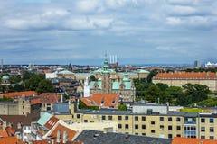Panorama van Kopenhagen Stock Afbeeldingen