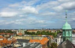 Panorama van Kopenhagen Stock Foto
