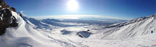 Panorama van Koryakskij-vulkaan Royalty-vrije Stock Afbeeldingen