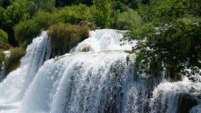 Panorama van Krka-Watervallen Stock Foto