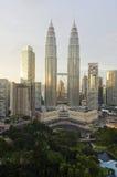 Panorama van Kuala Lumpur. Malasia Stock Afbeeldingen