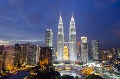 Panorama van Kuala Lumpur. Malasia Stock Afbeelding