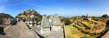 Panorama van kumbhalgarhfort in India royalty-vrije stock fotografie