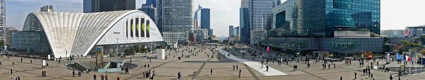 Panorama van La-Defensie, Parijs Stock Foto