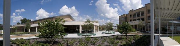 Panorama van Lage school stock fotografie