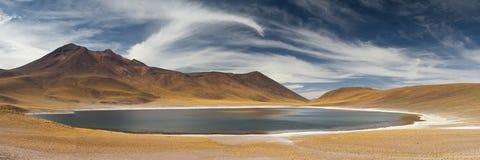 Panorama van Laguna Miniques stock foto