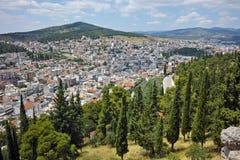 Panorama van Lamia City Royalty-vrije Stock Afbeeldingen