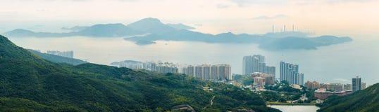 Panorama van Lamma-Eiland, Hong Kong stock foto