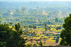 Panorama van landschap Angkor Wat stock foto's