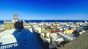 Panorama van Las Palmas de Gran Canaria -stad, Canarische Eilanden, Spanje stock videobeelden