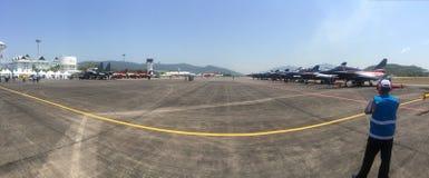 Panorama van LIMA airshow Stock Fotografie