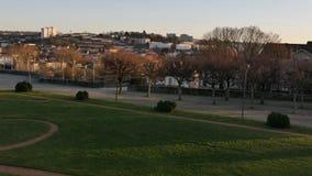 Panorama van Limoges, Frankrijk stock footage