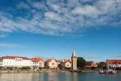 Panorama van Lindau bij Meer van Constance Royalty-vrije Stock Afbeelding