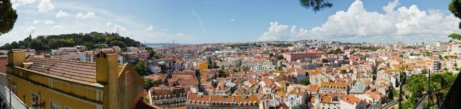 Panorama van Lissabon Stock Afbeeldingen
