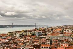 Panorama van Lissabon Royalty-vrije Stock Fotografie