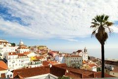 Panorama van Lissabon Stock Fotografie