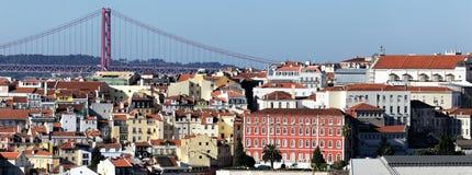 Panorama van Lissabon Stock Foto's