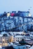Panorama van Ljubljana Royalty-vrije Stock Afbeeldingen