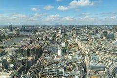 Panorama van Londen van Hemeltuin in Walkie-talkie Royalty-vrije Stock Foto's