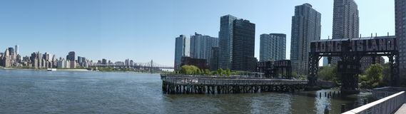 Panorama van Long Island-Stad in New York Royalty-vrije Stock Foto's