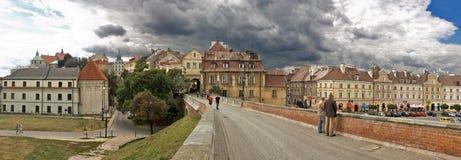 Panorama van Lublin Stock Foto's