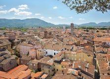 Panorama van Luca toscanië Italië Stock Foto's