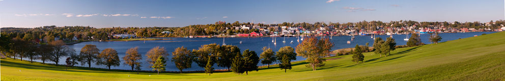 Panorama van Lunenburg, Nova Scotia, Canada Stock Afbeelding