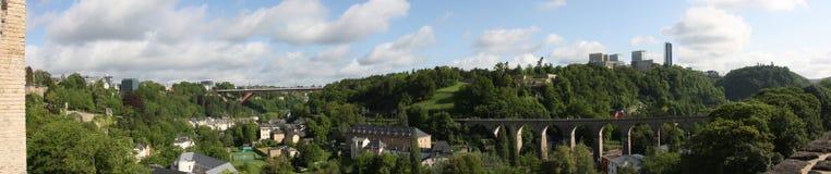 Panorama van Luxemburg Stock Afbeeldingen