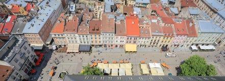 Panorama van Lviv Stock Foto