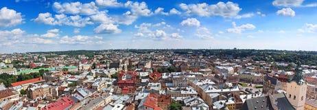 Panorama van Lviv, de Oekraïne Royalty-vrije Stock Foto's