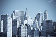 Panorama van Manhattan, New York Stock Foto's